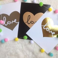 Lots of love round here!!! Set of Three love hearts from My Sweet prints to fill any space with a bit of love!