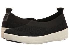 FitFlop Uberknit Ballerina Women's Slip on Shoes Black