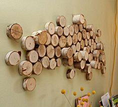 DIY log wall art   credit: Liv McMillan [http://www.livandjeff.blogspot.com/]