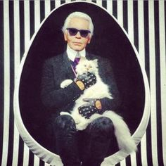 She belongs to fashion designer Karl Lagerfeld. | Karl Lagerfeld's Cat Has Her Own Beauty Line And It's Divine