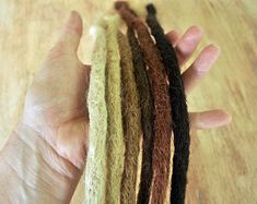 Dreadlock Extensions Crocheted x 10 dreads, long single ended synthetic dreads Synthetic Dreadlocks, Synthetic Hair, Loc Extensions Permanent, Dread Shampoo, Dread Shop, Natural Dreads, Braiding Your Own Hair, Dreadlock Extensions, Diy Fashion Accessories