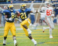 Desmond Howard Signed Michigan Wolverines Heisman Trophy Touchdown Pose  16x20 Photo with COA Ohio State Michigan d18911efc