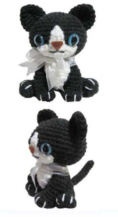 FREE Little Kitty Cat Amigurumi Crochet Pattern and Tutorial ༺✿ƬⱤღ https://www.pinterest.com/teretegu