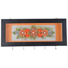 Vama Orange on Silver Plate Paper Quilled Keyholder: Amazon.in: Home & Kitchen