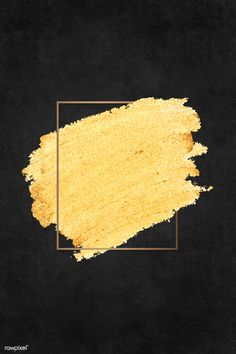 Gold paint with a golden rectangle frame on a black background vector Black Marble Background, Beige Background, Background Patterns, Paintings With Black Background, Gold Glitter Background, Golden Background, Paint Background, Watercolor Background, Illustrator Tutorials