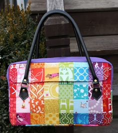 "The ""Conversation Bag"" – Free Tutorial  by SewSweetness #sewing"