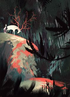 Foxfire – Soft Trail of Velvet Art by Carolyn Gan / Sydney, Australia http://wratbox.com/ & http://wratshit.tumblr.com/