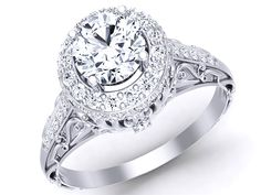 Halo Diamond Engagement Ring 1129-1
