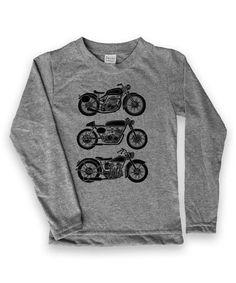 Love this Heather Gray Motorcycles Long-Sleeve Tee - Kids & Tween by Urban…
