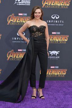 "Elizabeth Olsen – Disney and Marvel's ""Avengers: Infinity War"" Premiere in Los Angeles Elizabeth Olsen Style, Outfits and Clothes. Ms Marvel, Chris Evans, Elizabeth Olsen Scarlet Witch, Glamour, Jennifer Winget, Famous Women, Infinity War, Best Actress, Red Carpet Fashion"