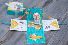 Heute habe ich für euch eine Explosionsbox für neue Erdankömmlinge :) Gestern war die liebe Steffi bei mir zum kreativ werkeln und wir haben uns an diese Baby-Box rangemacht. Habe dann ganz spontan…