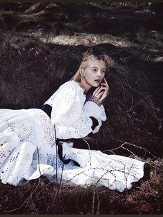 """""""Fairy Queen"""" Nastya Sten by Phil Poynter for Vogue Germany October 2014"""