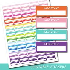 Important stickers, Important planner stickers, Printable important stickers…