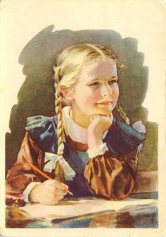 Gallery.ru / Фото #37 - Здравствуй, школа! Старые советские открытки. - Anneta2012