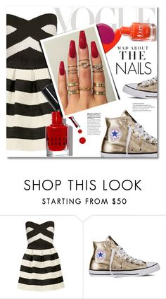 """nail love"" by lavida ❤ liked on Polyvore featuring Mon Cheri, Roksanda Ilincic, Converse, Bobbi Brown Cosmetics, Floss Gloss and Kershaw"