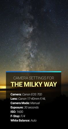 Milky Way Camera Settings Milky Way photography cameras settings tips and advice. The post Milky Way Camera Settings appeared first on Fotografie.