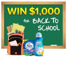 Win $1,000 for Back to School with Purex