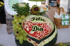 Presentación mesa frutas by Art de Fruita