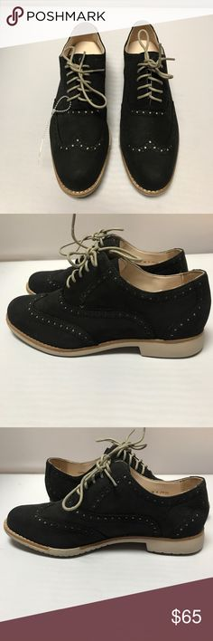 New Women's COLE HAAN Oxfords Black Sz5 These Cole Haan Wingtip Oxfords  feature a black &