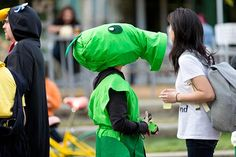 It's normal to see a #PlantsvsZombies Peashooter walk down the street. Right?  (credit to: Willa Chen)