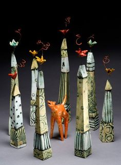 'Trappings' Sculpture by Ceramic Artist Lisa Muller ★༺❤༻★