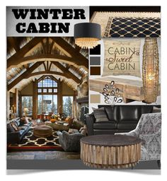 """""""Dream Winter Cabin"""" by nans-g ❤ liked on Polyvore featuring interior, interiors, interior design, home, home decor, interior decorating and Andrew Martin"""