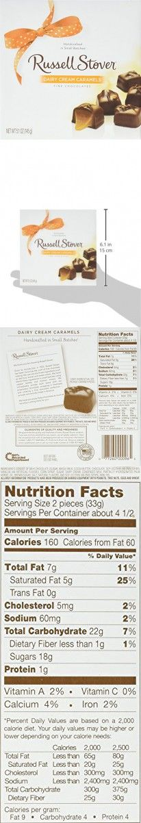 Russell Stover Dairy Cream Caramels Box, 5.0999999999999996 Ounce