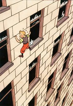 I'm so happy that my son is into Tintin. It means I get to look at all this gorgeous art as I read them to him. Art by Herge.  Via GingerHaze.tumblr.com