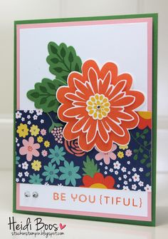 Friday Favorites, Flower Fair, Flower Patch, Stuck on Stampin, Heidi Boos, Stampin Up, Stylin Stampin INKspiration, SSINK