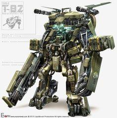 cyberclays: Mech concept - by Evan Lee Robot Concept Art, Armor Concept, Armes Futures, Armadura Sci Fi, Cyberpunk, Mecha Suit, Science Fiction, Arte Robot, Future Weapons
