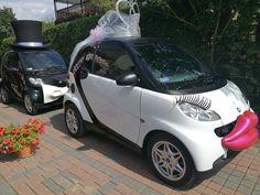 #SmartPara gotowa by zawieźć Mariole i Wojciecha do ołtarza :) www.smart-line.pl #zwariowanewesela #smartline #smartydoslubu #samochodnawesele #weddingcar #funycar #smartcar #atrakcjeslubne #wedding #justmarried Crazy Wedding, Wedding Car, Smart Car, Mario, Funny, Funny Parenting, Hilarious, Fun, Humor