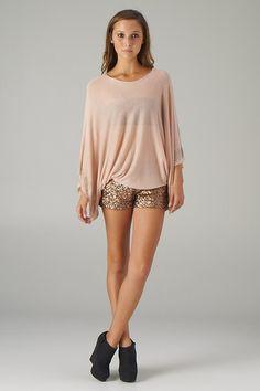 Zig-zag Embellished Kimono Sweater (Indie Pink) - Front