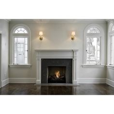 Fireplace Millwork ❤ liked on Polyvore featuring rooms, empty rooms, backgrounds, home and interior