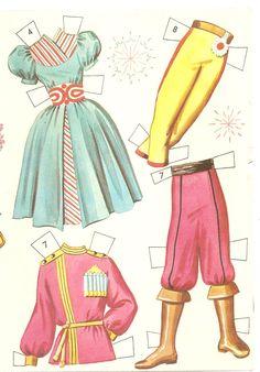 vintage NUTCRAACKER PAPER DOLLS   The Nutcracker Ballet cutouts by Whitman Publishing company 1960 from ...