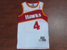 d22497a9f6a Atlanta Hawks Classic Spud Webb  4 White Swingman Hardwood NBA Jersey  Atlanta Hawks Classic Spud Webb  4 White Swingman Hardwood NBA Jersey