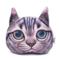 Cute Cat Face Wallet Women Zipper Coin Money Purse for Children