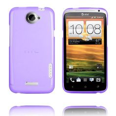 TPU Shell (Transparent Lilla) HTC One X Cover