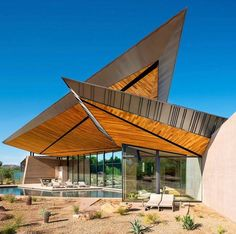 Kendle Design Collaborative were inspired by desert forms, indigenous materials, natural light, and mountain views, when they designed this modern house. Architecture Design, Cabinet D Architecture, Residential Architecture, Amazing Architecture, Contemporary Architecture, Contemporary Interior, Building Architecture, Interior And Exterior Angles, Exterior Design
