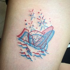 Winston the Whale - 3D space tattoo @winstonthewhale