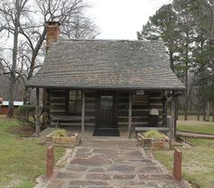 Between 1829 and 1844, Sequoyah's Cabin in Sallisaw, OK, served as the home of the Cherokee Indian Sequoyah, who created a written language for the Cherokee Nation. It was declared a National Historic Landmark in 1965.