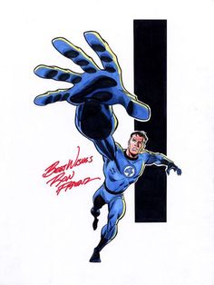 Mister Fantastic (Reed Richards) by Ron Frenz Marvel Comic Character, Comic Book Characters, Marvel Characters, Comic Books Art, Fantastic Four Comics, Mister Fantastic, Fantastic Art, Marvel Comics Art, Marvel Heroes