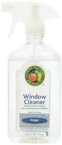 Earth Friendly Products Window Cleaner with Vinegar 500 ml (Pack of 6)