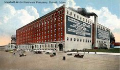 Vintage Duluth Minnesota Postcard - The Marshall-Wells Hardware Company, C. Photochrom, Made In USA, Postmarked 1915 Cascade Park, Two Harbors, Duluth Minnesota, Lake Superior, Great Lakes, Old Pictures, Historical Photos, Minneapolis, Old Town