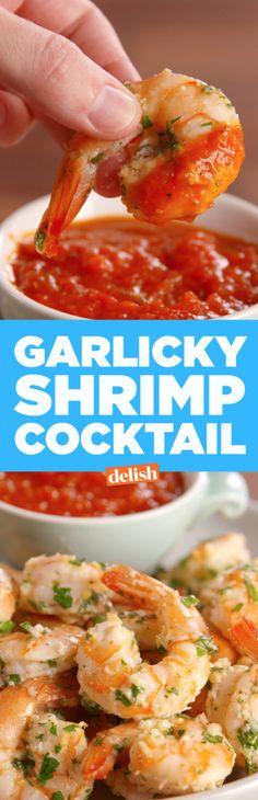 Baked and Garlicky Parmesan Shrimps