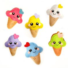 Ice Cream Felt Accessory , can be used as both a brooch and a hair clip. £12.00, via Etsy.
