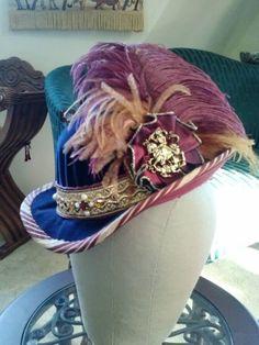 Velvet and silk man's Elizabethan riding hat.