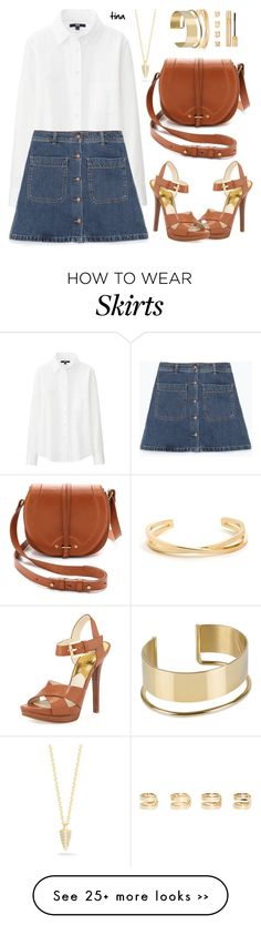 """Denim Skirt"" by matulik77 on Polyvore"