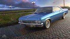 Chevrolet Impala work, done in Max, Corona, Photoshop Chevrolet Impala 1965, 3ds Max, Cgi, Automobile, Behance, Photoshop, Design, Corona, Car