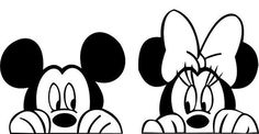 Vinyl decal of Mickey and Minnie surfaces peeking out! Curieux Vinyl decal of Mickey and Minn. Arte Do Mickey Mouse, Disney Mickey Mouse, Minnie Mouse, Vinyl Banners, Vinyl Decals, Silhouettes Disney, Machine Silhouette Portrait, Silhouette Machine, Cricut Creations