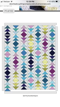 Triangle Quilt Pattern, Triangle Quilts, Triangles, Colchas Quilting, Scrappy Quilts, Quilting Tutorials, Quilting Projects, Barn Quilt Designs, Flying Geese Quilt